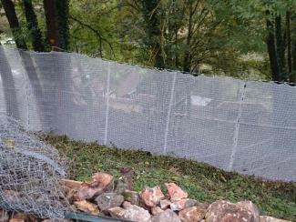 Filets de sécurité chute de pierres